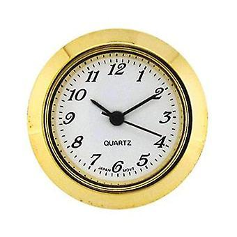 Clock movement quartz mini insertion head Ø25mm gold arabic