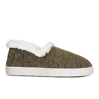 Dr. Scholl's Womens Cozy Madison Fur Closed Toe Slip On Slippers