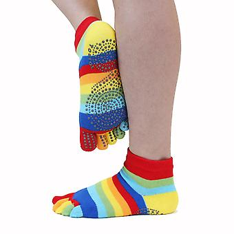 TOETOE Yoga & Pilates Anti-Slip Sole Unisex Trainer Toe Socks