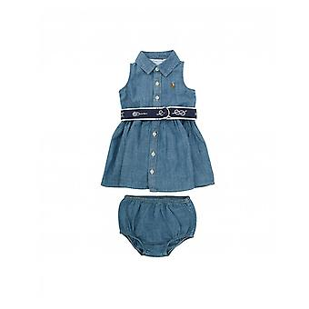Polo Ralph Lauren Childrenswear Sleeveless Belted Chambray Dress
