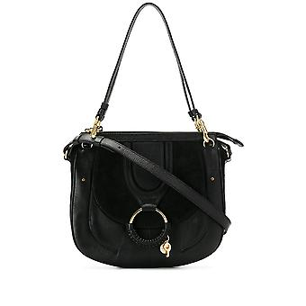 See By Chloé Chs18as958417001 Women's Black Leather Shoulder Bag