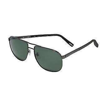 Chopard SCHC92 568P Total Shiny Gunmetal/Polarised Grey-Green Sunglasses