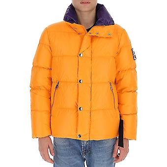 After Label Al013350 Men's Orange Polyester Down Jacket