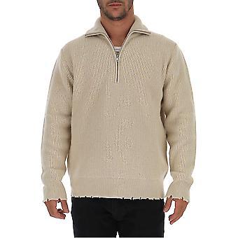 Laneus Mgu757cc20gesso Men's Witte Wollen Trui