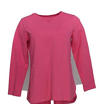 Denim & Co. Donne's Top Active Francese Terry Tunic Pink A239284