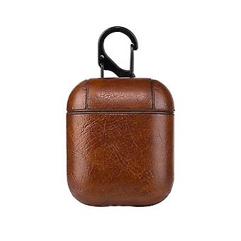 Protective case for Airpods, dark brown