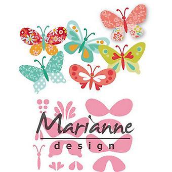 Marianne Design Keräilyesinyjen leikkauskupit - Eline's Perhoset Col1466 47x32mm