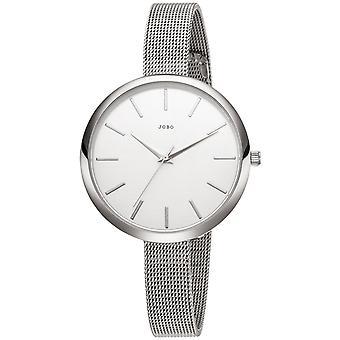 JOBO reloj de pulsera de mujer cuarzo analógico acero inoxidable estrecho pulsera