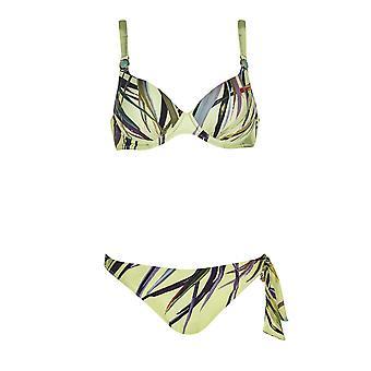 Opera 61056-99 Women's Tropical Vibes Multicoloured Underwired Bikini Set