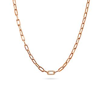 Necklace Dream 18K Gold Chain 1 Diamonds Link