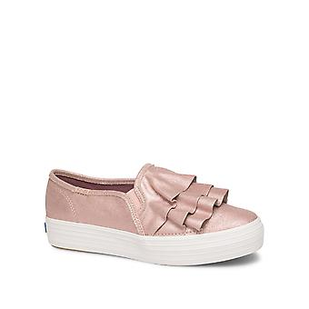 Keds Femmes-apos;s Triple Ruffle Glitter Suede Sneakers
