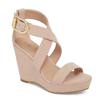 BCBGeneration Womens Jae Fabric Open Toe Casual Platform Sandals