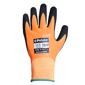 Polyco GIOK3/09 Grip It Oil Cut Resistant 3 Gloves Size 9