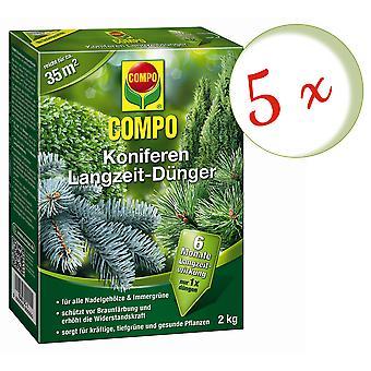 Sparset: 5 x COMPO bartrær langsiktig gjødsel, 2 kg