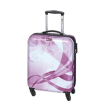 Controleren. IN Atlantis Dames Handbagage Trolley S, 4 Wielen, 54 cm, 30 L, Paars