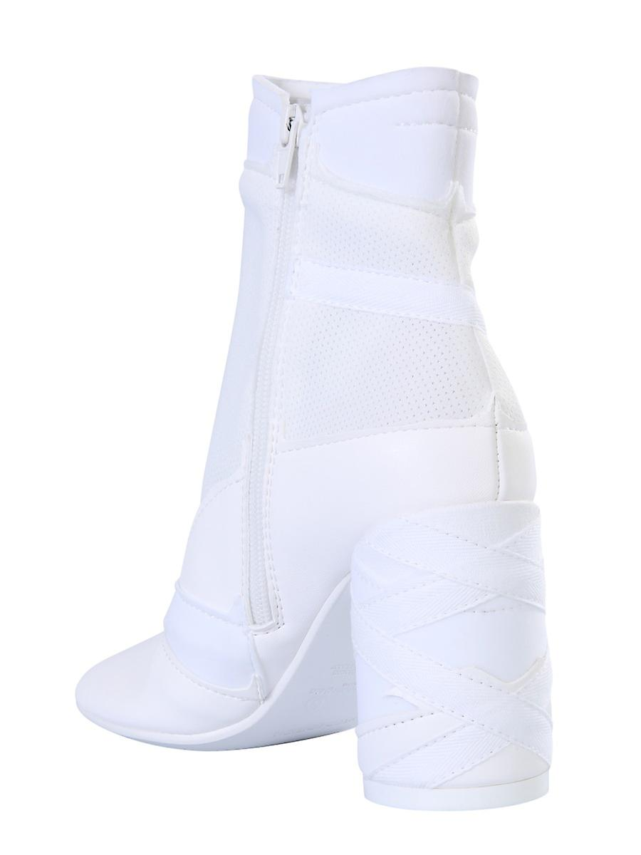 Mm6 Maison Margiela S40wu0193p3287t1003 Women's White Leather Ankle Boots - Gratis verzending GmCQLV
