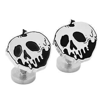Disney Snow White Poison Apple Argent Plaqued Cufflinks