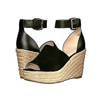 Marc Fisher Women's Shoes Cala Suede Peep Toe Casual Espadrille Sandals