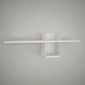 Mensola Lanzarote Color Bianco in Truciolato, Strato in Metallo Verniciato 90x20x29 cm