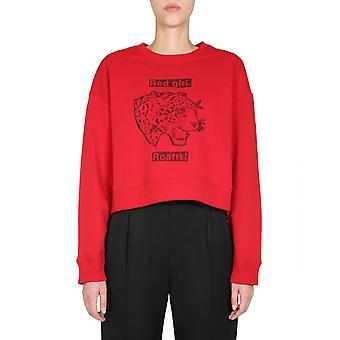 Red Valentino Ur3mf04t59y38z Women's Red Cotton Sweatshirt