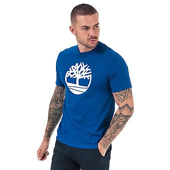 Men's Timberland Kennebec River Tree T-shirt in Blauw