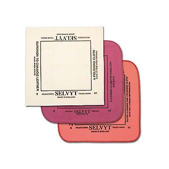 Ensemble de tissu de polissage selvyt, tissu argenté, tissu rouge et tissu doux