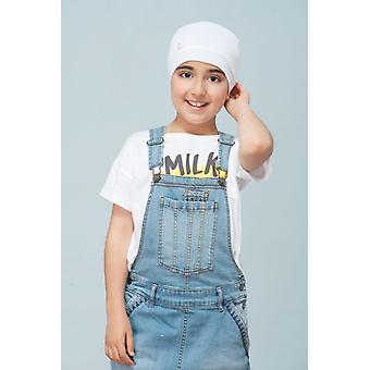 Funky cancer hat for kids - Milo white kitten