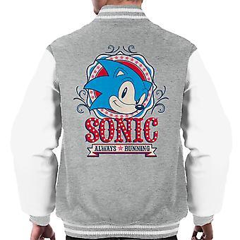 Sonic The Hedgehog Carnival Poster Always Running Men's Varsity Jacket