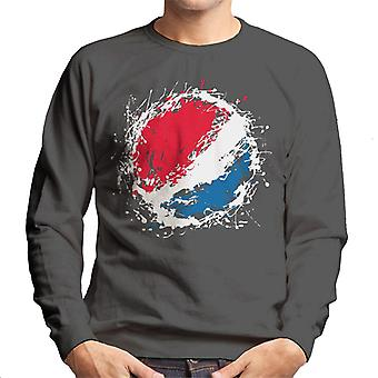 Pepsi Paint Splash Logo Men's Sweatshirt