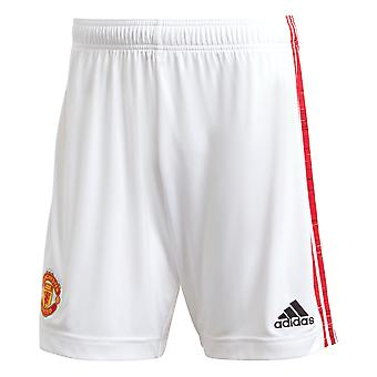 adidas Manchester United 2020/21 Herren Home Football Short White