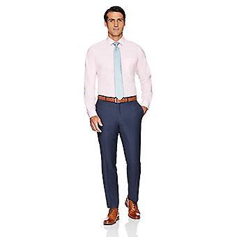 BUTTONED أسفل الرجال & ق تناسب تناسب تمتد البوبلين غير الحديد اللباس قميص, الوردي, 1 ...