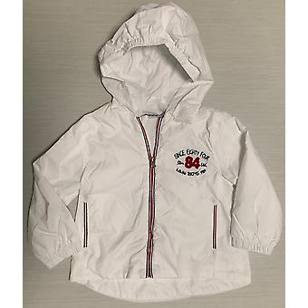Mamino  Boy  Andy  White   Rain Jacket  with  Hood