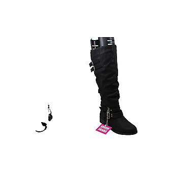 Xoxo Womens Leather Round Toe Knee High Fashion Boots