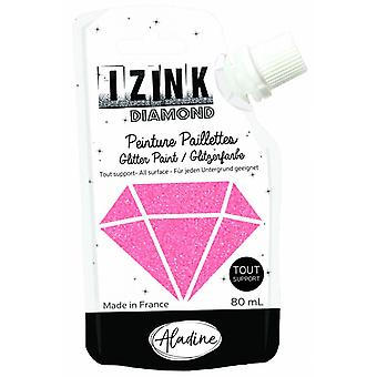 Aladine Izink Diamond Glitter Paint Coral 80ml.