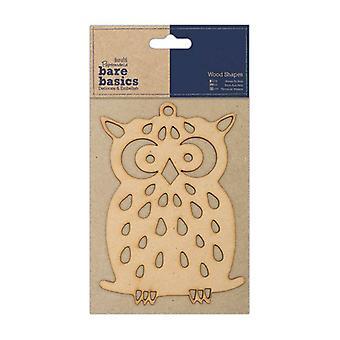 Papermania Bare Basics Wooden Shapes - Owl