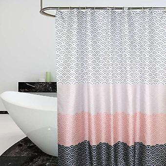 Nordic Shower Curtain Geometric Color Block Bath Curtains Bathroom For Bathtub