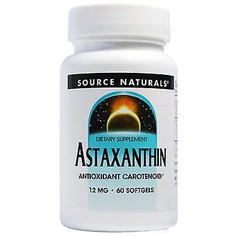 Fuente Naturals, Astaxantina, 12 mg, 60 Softgels