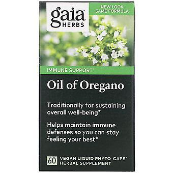 Gaia Herbs, Oil of Oregano, 60 Vegan Liquid Phyto-Caps