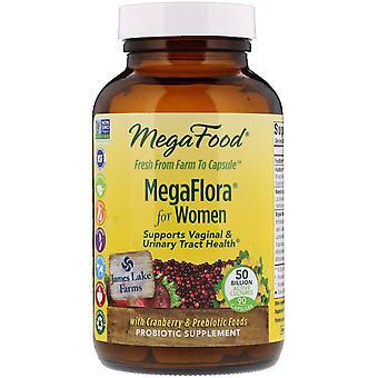 MegaFood, MegaFlora,  Women's Probiotic , 90 Capsules (Ice)