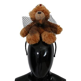 Dolce & Gabbana Brown Teddy Bear Aur Crystal Diadem SMYK114