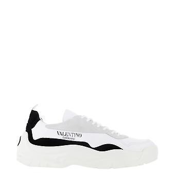 Valentino Garavani Uy2s0b17vrn24p Men's Wit/zwart Leren Sneakers