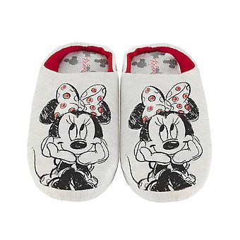 Disney Minnie Mouse Sketch Kobiety&s Kapcie Slip-On Grey House Buty