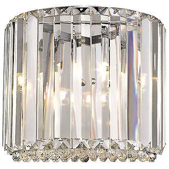 1 Light Indoor Wall Light Chrome, Cristal, G9