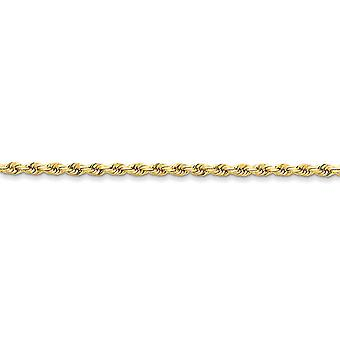 14 k Gelb Gold solide Sparkle-Cut Hummer Klaue Schließung 3mm D-Cut Seil Hummer Verschluss Kette Halskette - Lobster Claw - Leng