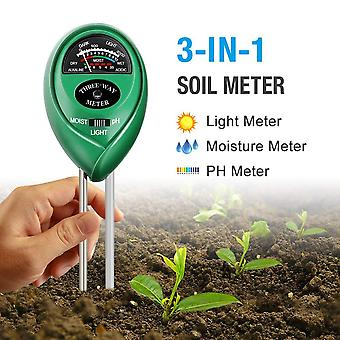 Soil Ph Meter - 3-in-1 Soil Tester Kits With Moisture Light And Ph Test For Garden Farm Lawn Indoor & Outdoor
