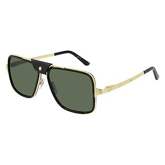 Cartier Asian Fit CT0263SA 002 Havana-Gold/Green Polarised Sunglasses