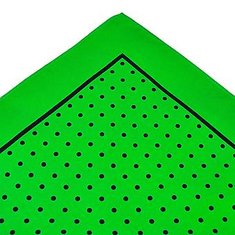 Ties Planet Green & Black Polka Dot Silk Pocket Square Handkerchief