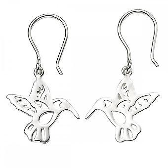 Beginnings Sterling Silver Cut Out Hummingbird Earrings E5767