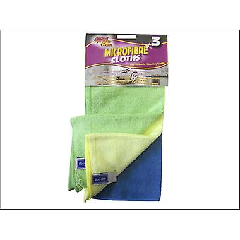 Squeaky Clean Microfibre Cloth x 3 776.3SQ2