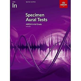 Specimen Aural Tests, Initial Grade: met audio (Specimen Aural Tests (ABRSM))